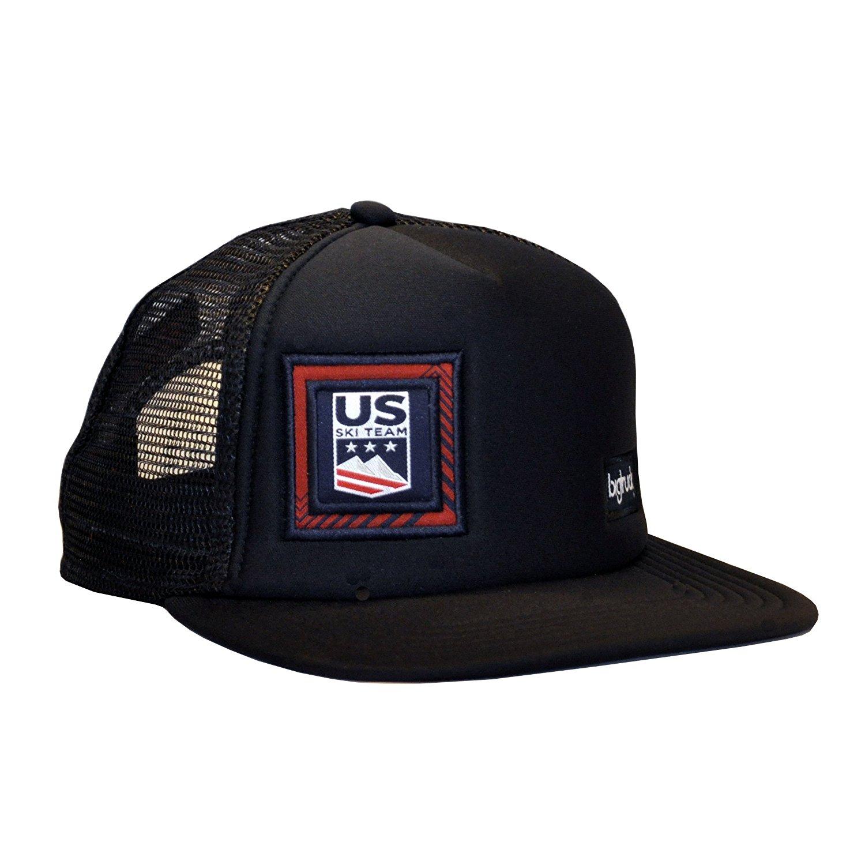 fd2f9640fa4 Get Quotations · bigtruck USSA Original Flat Brim Mesh Snapback Flat Brim  Trucker Hat