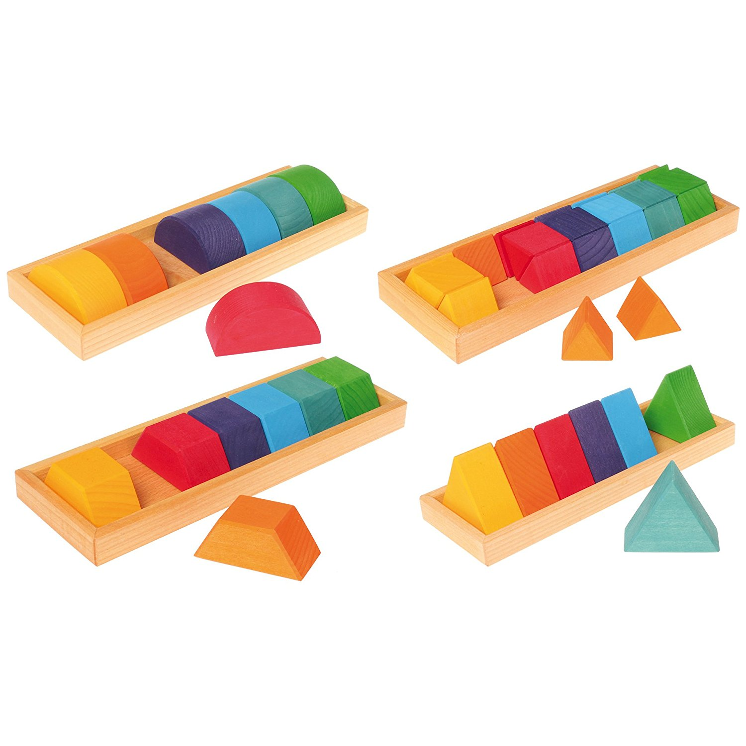 Grimmu0027s Large Shapes U0026 Colors Building Set, Part 2   Colorful Wooden Blocks  In 4