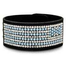 Кожаные Стразы LUBINGSHINE, широкие браслеты для женщин и девушек, мужские браслеты ручной работы, вечерние ювелирные изделия, подарок(Китай)