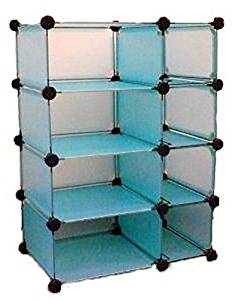 Modular Cube Storage Compartment System- Blue - Modular Cube Storage By Edsal In Blue Color.8 Compartments- 14 3/4 Inches Deepspace Savingexpandable- Add Extra Compartmentsversatileassembles In Minut