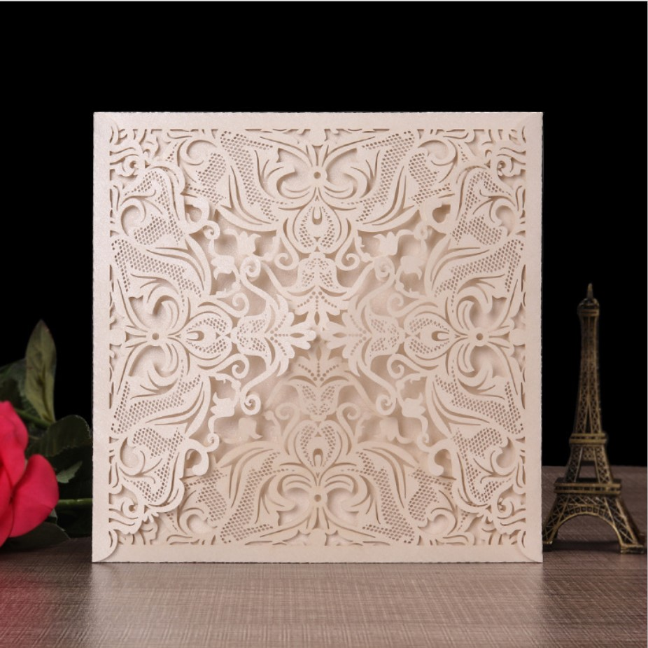2019 new style lace laser cut korean <strong>luxurious</strong> <strong>wedding</strong> <strong>invitation</strong> cards