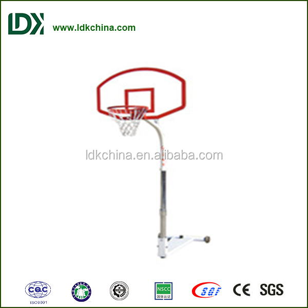 Outdoor height adjustable basketball stand leisure backboard