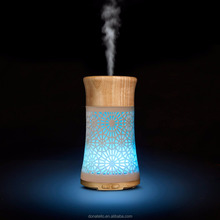 Unique products 2018 led colorful nightlight metal oil diffuser essential oil nebulizer