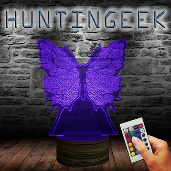 Butterfly 3d Illusion Lamp Home Decor Children Sleep Led Night Light