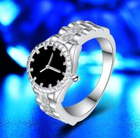 Top fashion copper material Faye Ring silver plated ring jewelry women lady watch