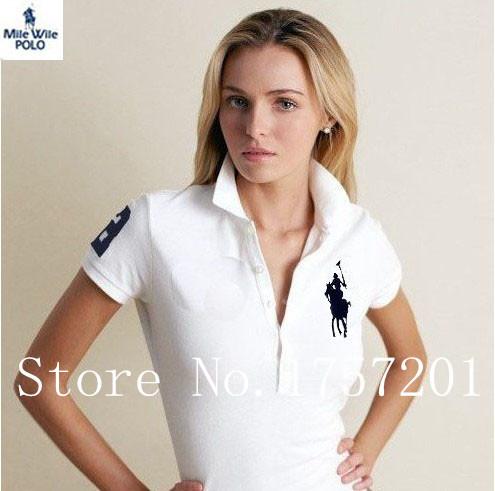 Лето 2015 женщины футболка поло марка рубашки тонкий embroibery короткий рукав рубашки для женщин Большой размер M-XXL бесплатная доставка 11 цвет