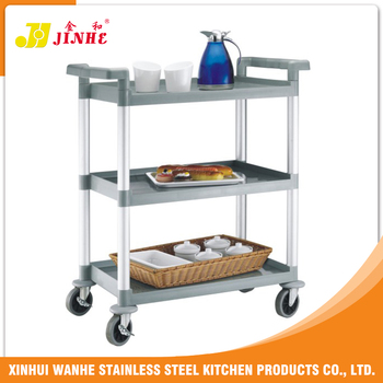 Incroyable Hot Sales Kitchen Square Tube Hotel Trolley Room Service Cart
