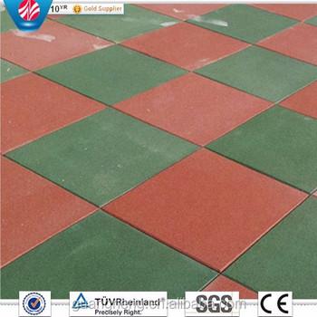 Colorful Antiabrasive Rubber TilesInterlocking Playground