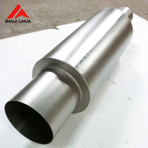 "2.0"" Inlet 3.0"" outlet Titanium Exhaust muffler with pipe tip"