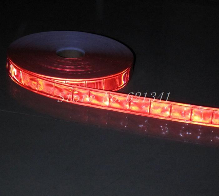 Оранжевый блеск для губ пришить отражающая лента 25 мм * 10 м