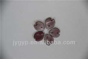 crystal craft purple jade flower petal pattern for clothing decor