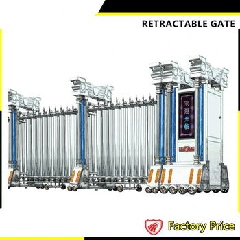 Retractable Driveway Compound Wall Metal Folding Gate