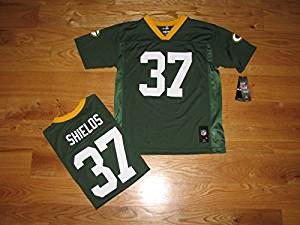 NEW Green Bay Packers SAM SHIELDS Green Home Youth Boys NFL Home Green Jersey Size 18-20 XL X-LARGE Kids