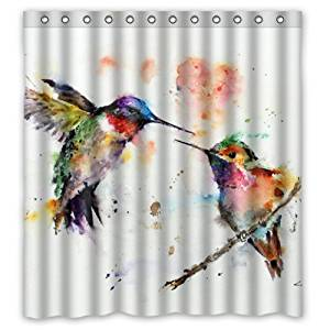 Get Quotations 66w X 72h Watercolor Hummingbird Art Theme Painting 100