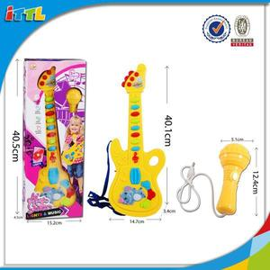 Newest product mini toy guitar musical instrument toy kids guitar toy for kids