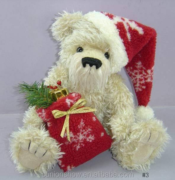 plush stuffed soft cute custom wholesale christmas teddy bear