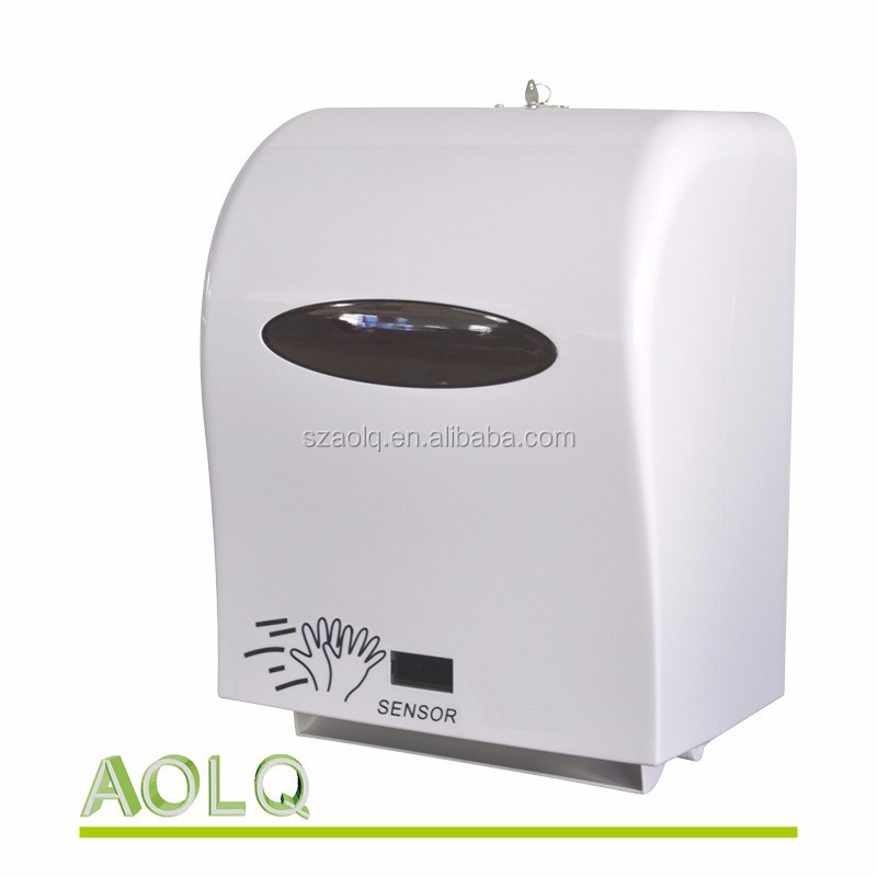 Plastic hand roll tissue auto paper towel dispenser with sensor
