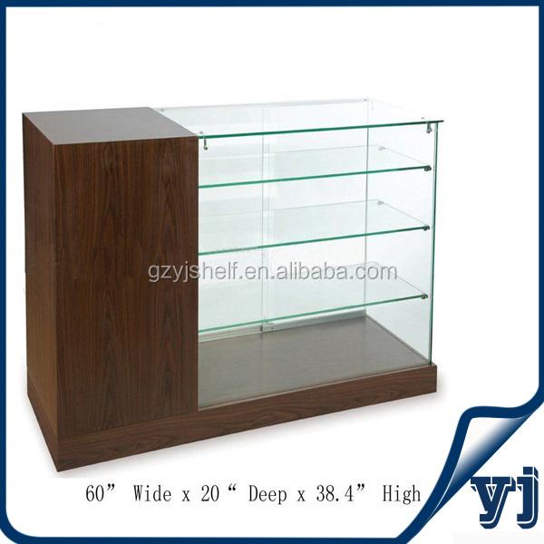 mode verre affichage vitrine avec tiroir,led vitrine Étagère en