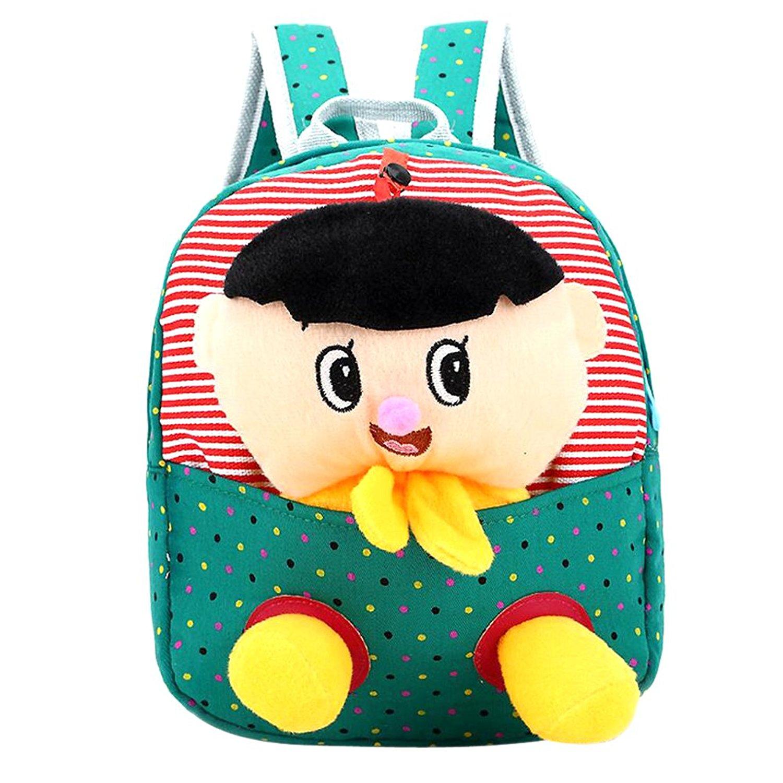 1734c9b753a Get Quotations · MNBS Children Preschool Animal Cartoon Bags Baby School  Backpacks Toddler School Bags GreenA
