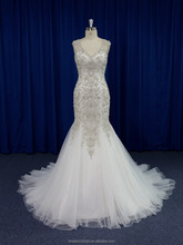 Luxurious rhinestone beaded mermaid embroidery wedding dress china