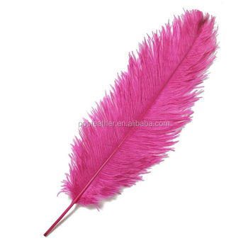 PM-600 20-25 cm High quality beautiful hot pink natural ostrich feather party decorations