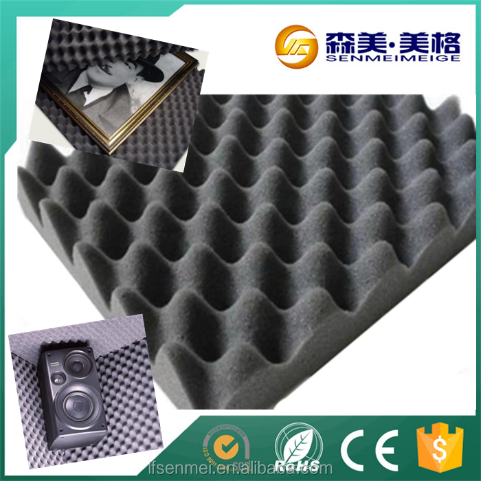 Fire blocking retardant sound absorbing soundproof material studio acoustic egg crate foam