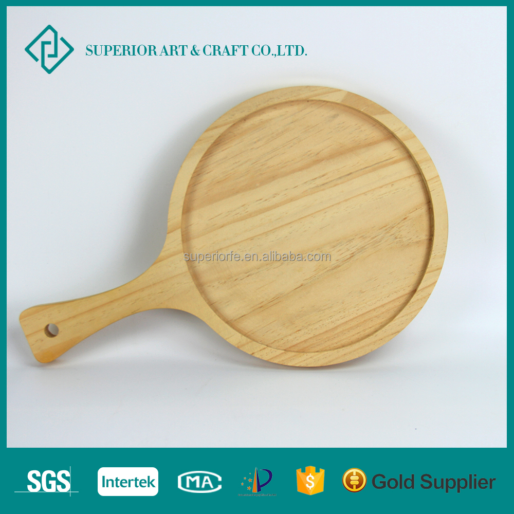 Customized Design Wholesale Wood Round Serving Pizza Tray/Pizza Pan