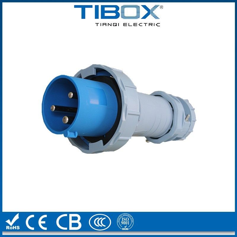 RoHS, CE,CB,CCC,ISO9001 certified three-phase plug industrial