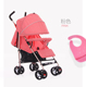 high quality pu wheels portable baby stroller