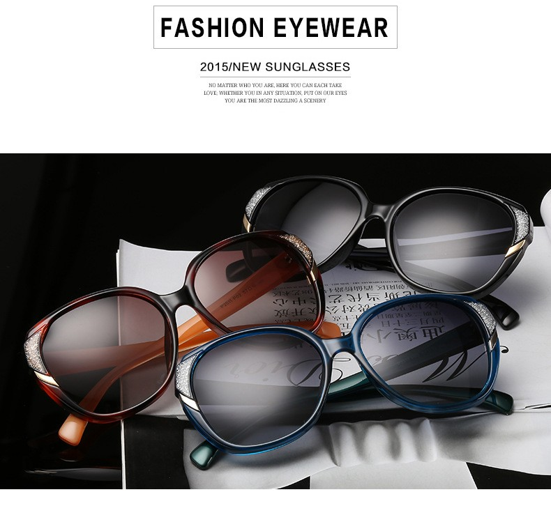 2016 Fashion New Polarized Sunglasses Women Brand Designer Woman Sunglasses Ladies Shades Sun Glasses for Women Oculos CC5067