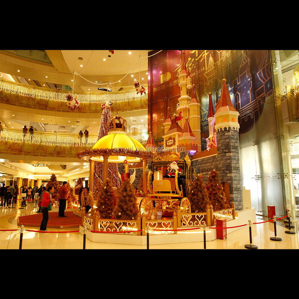 Hot sale 2015 unique designed shopping mall lighted indoor for Indoor christmas decorations sale