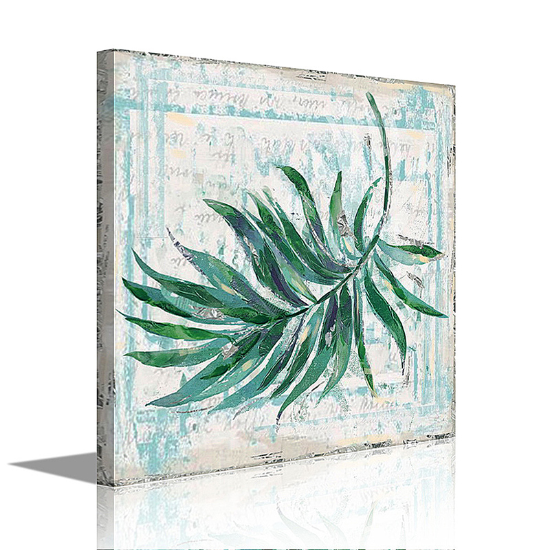 Dafen Dropship oil painting modern decoration leaf canvas prints picture with stretched frames still life painting for wall deco