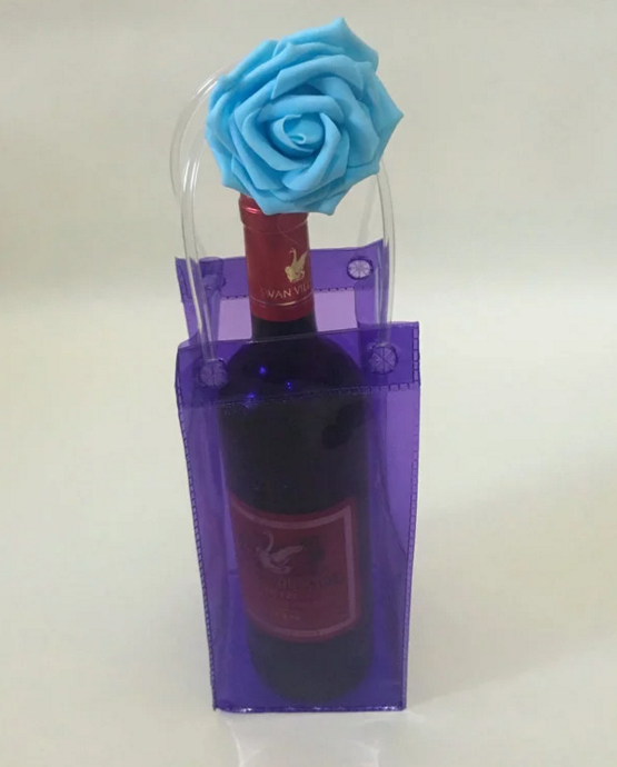 Wholesale Custom waterproof pvc wine tote gift bag