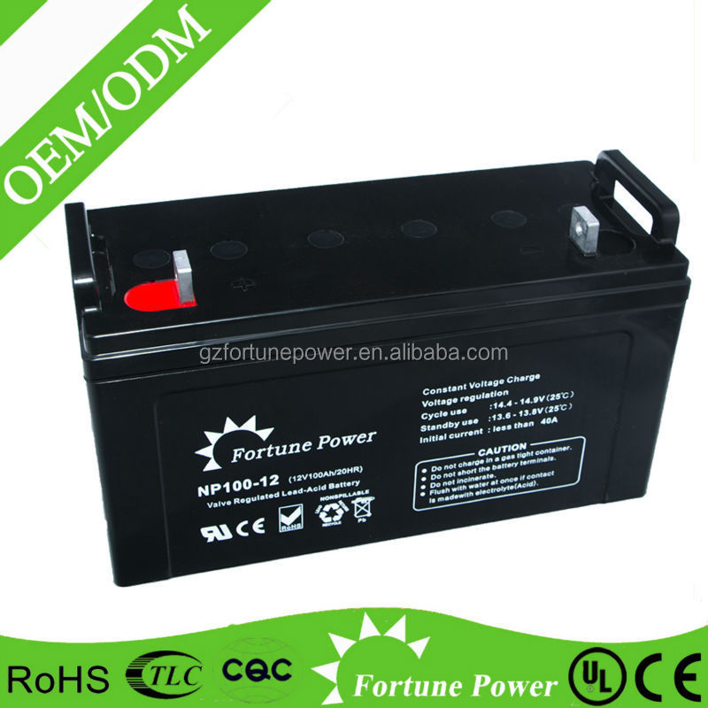 auto battery high quality vrla battery 12V 100AH 120AH used for solar system