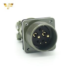 thread electrical plug 5 pins industrial socket