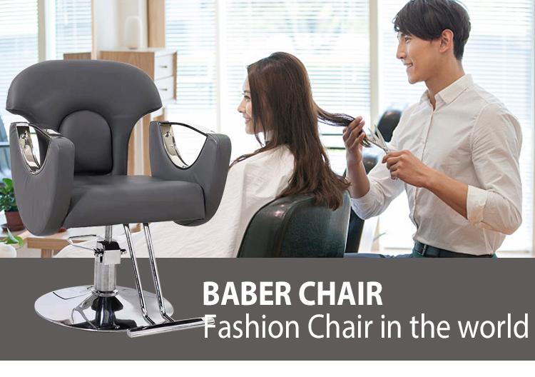 Pink Beauty Hairdressing Hydraulic Shop Reclining Hair Equipment Salon Furniture Barber Chair