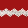 top design french lace material for curtain border