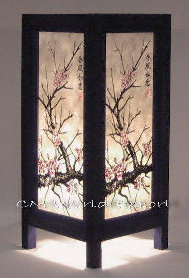 lampe de table japonais asiatique oriental cherry blossom arbre lampe de table et de lecture. Black Bedroom Furniture Sets. Home Design Ideas