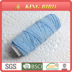 100% polyester elastic weaving thread natural latex rubber thread