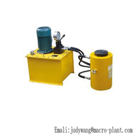 Best price high quality double acting hollow plunger jack/ hydraulic cylinder