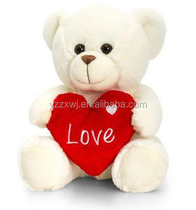 Free Sample Wholesale Factory Soft Plush red heart teddy animal toy Stuffed teddy bear toy holding red heart