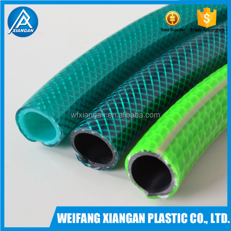 Transparent Watering and Irrigation Fibre Reinforced PVC Garden Hose