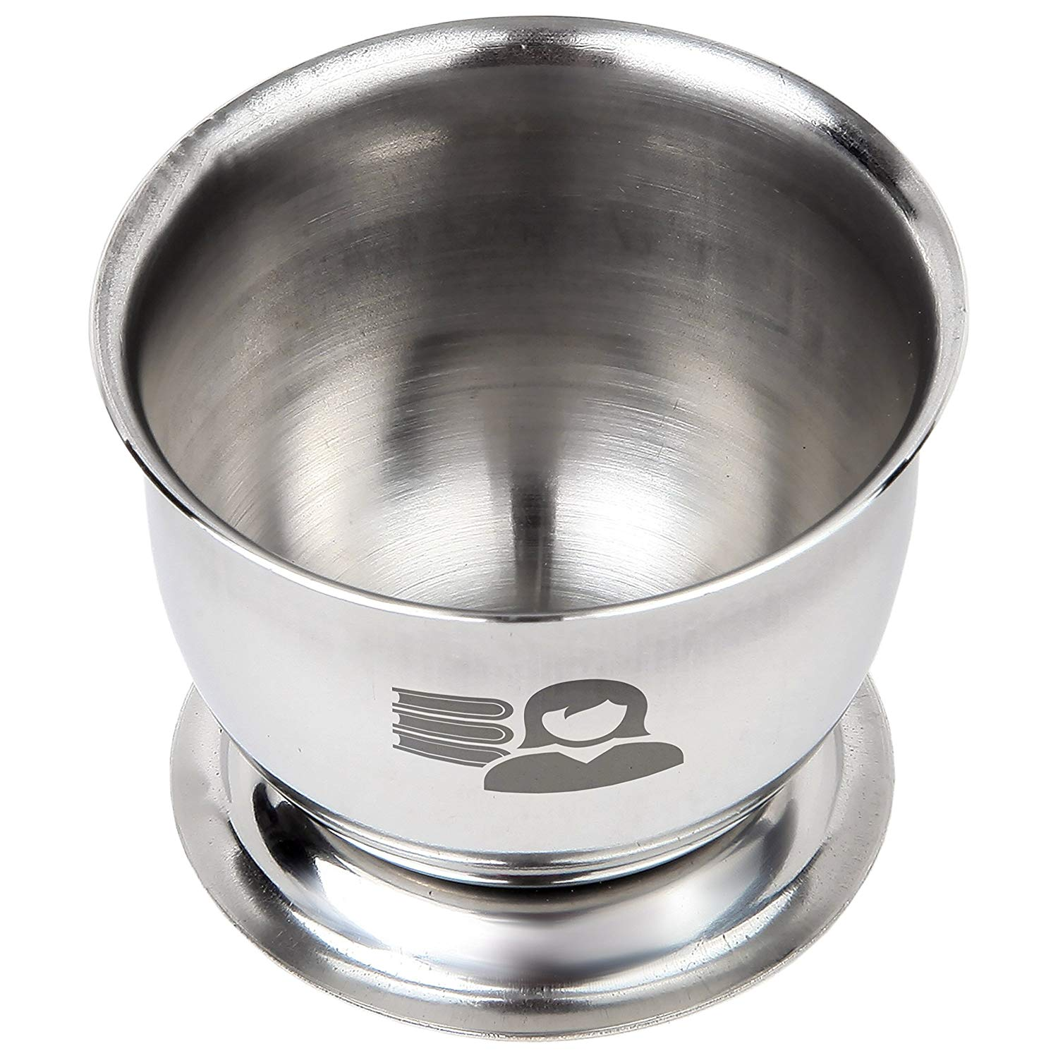 Librarian Engraved Stainless Steel Egg Cup