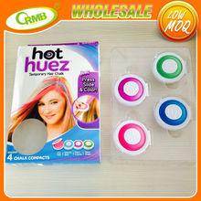4 couleurs temporaire cheveux dye coloration des cheveux craie - Poudre Colorante Cheveux