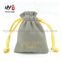 Hand embroidery personalized velvet silver jewelry bag