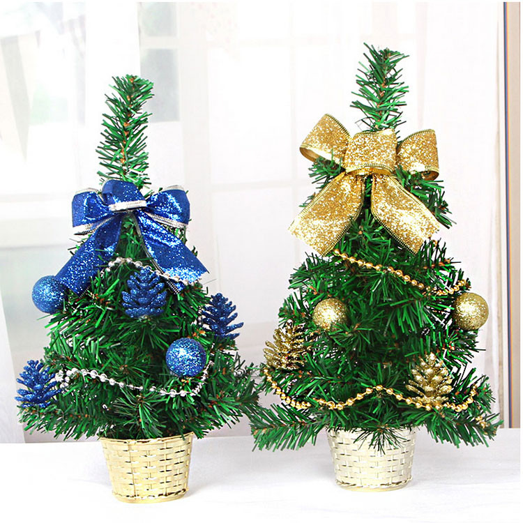 decorated artificial plastic mini table top christmas tree. Black Bedroom Furniture Sets. Home Design Ideas