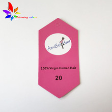 Factory price custom printing hair tag,new design hot sale tags for hair