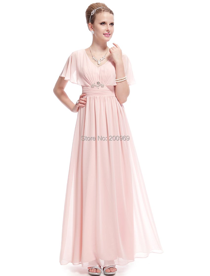 8d7aed46df3 Party Dresses Ever Pretty 8096 Elegant Pink Sexy Capelet Chiffon RuchMaxi  Women Celebrity Wedding Winter Event