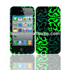 couple case for iphone 4, green image phone case, fashion cheap case for iphone 4