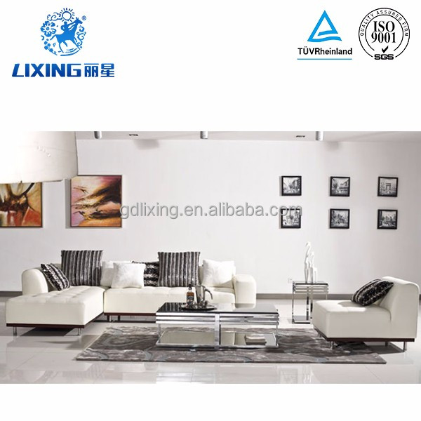 Chinese Furniture Stores New Style Fashion White Sectional Sofa